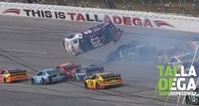 Gaughan goes upside down at Talladega