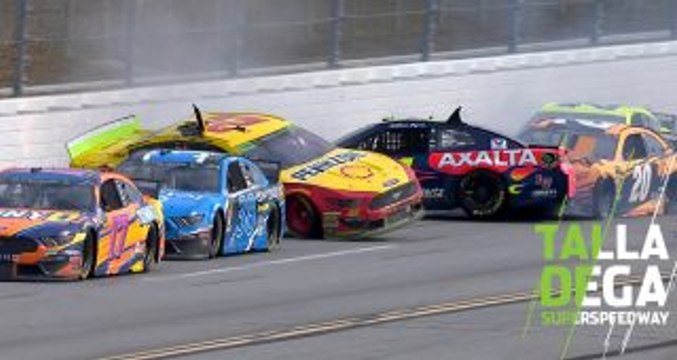 Byron gets turned, hits Logano to cause second 'Big One'