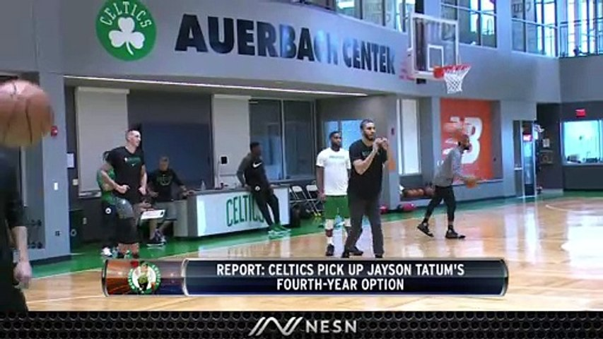 Celtics Pickup Jayson Tatum's Fourth-Year Option