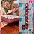 Elle apprend qu'elle va être grand-mère en jouant au Scrabble