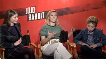 'Jojo Rabbit': Scarlett Johansson, Roman Griffin Davis, Thomasin McKenzie