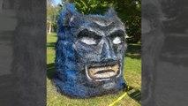 Des sculptures d'Halloween à partir de meules de foin