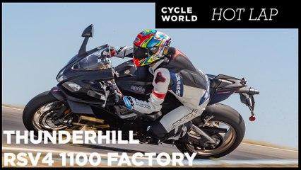 2019 Aprilia RSV4 1100 Factory Hot Lap At Thunderhill Raceway Park