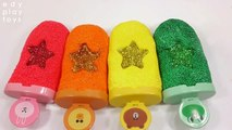 Kids Learn Colors Slime Foam Clay Colors Toys Glitter Water Ice Cream Clay DIY Toys For Kids