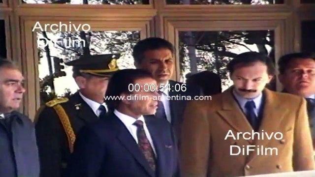 Patricio Aylwin visita Argentina para superar los problemas limitrofes 1991