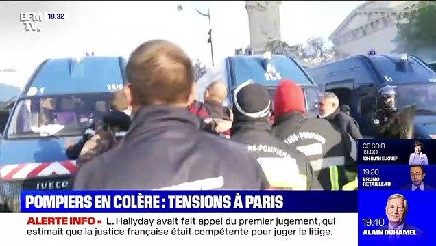 Pompiers en colère: tensions à Paris - 15/10