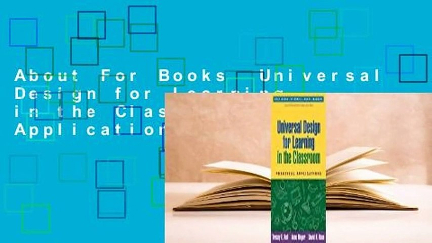 About For Books  Universal Design for Learning in the Classroom: Practical Applications  Best