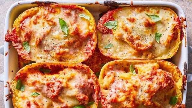 How to Make Chicken Parm Spaghetti Squash