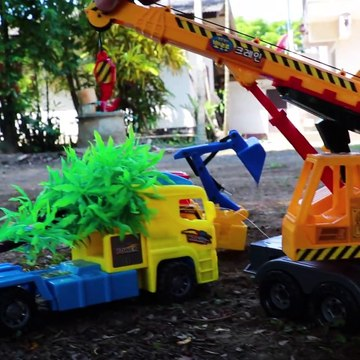 Plant a tree - Crane Truck, Tow truck , Helicopter, Wheel loader ,Construction vehicles
