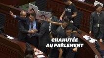 La cheffe de l'exécutif hongkongais contrainte de renoncer à un discours à cause de militants
