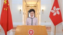 Hong Kong leader forced to deliver policy address via video