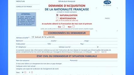 Demande de naturalisation française