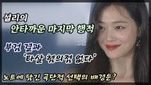설리 부검 '타살 혐의점 없다' 안타까운 마지막 행적?
