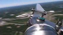 Camera posée sur une pale d'hélicoptère