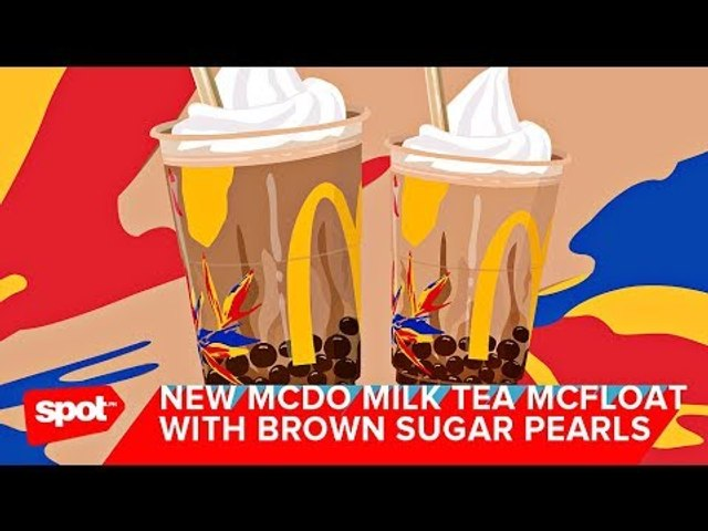 Perk Up Your Day With McDo's Milk Tea McFloat With Brown Sugar Pearls