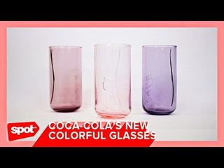 Coca-Cola's New Colorful Glasses