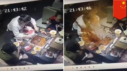 '핫팟식당 종업원, 손님이 떨어트린 라이터 찾다 육수 터져'외 5개