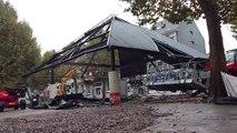 La Halle de la place Verte démolie à Verviers