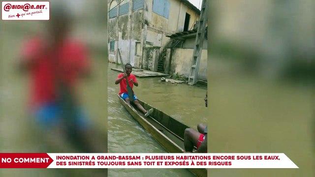 Inondation a Grand-Bassam : Plusieurs habitations encore sous les eaux, des sinistrés toujours sans toit et exposés à des risques