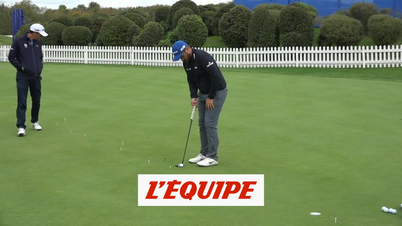 Au putting avec Romain Langasque – Golf – Open de France