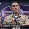 Military supports 'selective martial law' in Mindanao