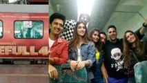 Akshay Kumar, Riteish Deshmukh & other stars masti on Housefull 4 Express Special Train | FilmiBeat