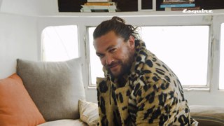 Jason Momoa Scrunchie Challenge | Esquire