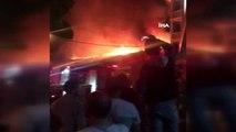 Ümraniye Dudullu' da bir cila atölyesinde yangın çıktı.