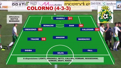 Colorno - Nibbiano Valtidone 4-0, highlights e interviste