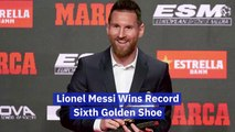 Lionel Messi Has A Lot Of Golden Shoes