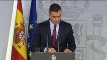"""Pedro Sánchez: """"Quim Torra debe condenar sin excusas y sin paliativos la violencia"""""""