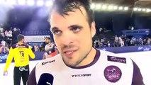 Vasko Sevaljevic après le match nul entre Istres et Montpellier Handball
