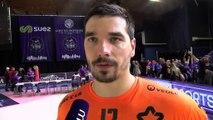 Kevin Bonnefoi après le match nul entre Istres et Montpellier Handball