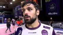 Andrea Parisini après le match nul entre Istres et Montpellier Handball