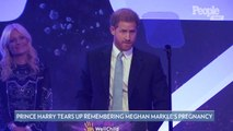 Prince Harry Tears Up as He Remembers Keeping Meghan Markle's Pregnancy a Secret