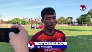 Trung vệ Bùi Tiến Dũng cùng các đồng đội tự tin trước cuộc đối đầu chủ nhà Indonesia | VFF Channel