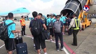 ĐT Việt Nam đặt chân tới Indonesia bắt đầu hành trình chinh phục đội chủ nhà | VFF Channel