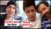 Akshay Kumar FUNNY Video With Riteish Deshmukh, Bobby Deol | The Kapil Sharma Show Housefull 4