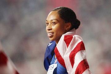 Sprinterin bricht Rekord von Usain Bolt.