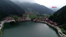 Trabzon uzungöl'de kaçak yapı sahiplerinin yıkım nöbeti