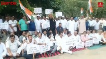 Sarore Toll Plaza Dispute  Congress Party Staged Protest against Central Government and NHAI-1