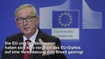 Durchbruch in Brexit-Verhandlungen kurz vor EU-Gipfel
