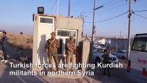 Hundreds of Syrian Kurds fleeing Turkish invasion seek refuge in Iraq