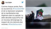 Paris inaugure une stèle en hommage aux victimes algériennes de la répression du 17 octobre 1961