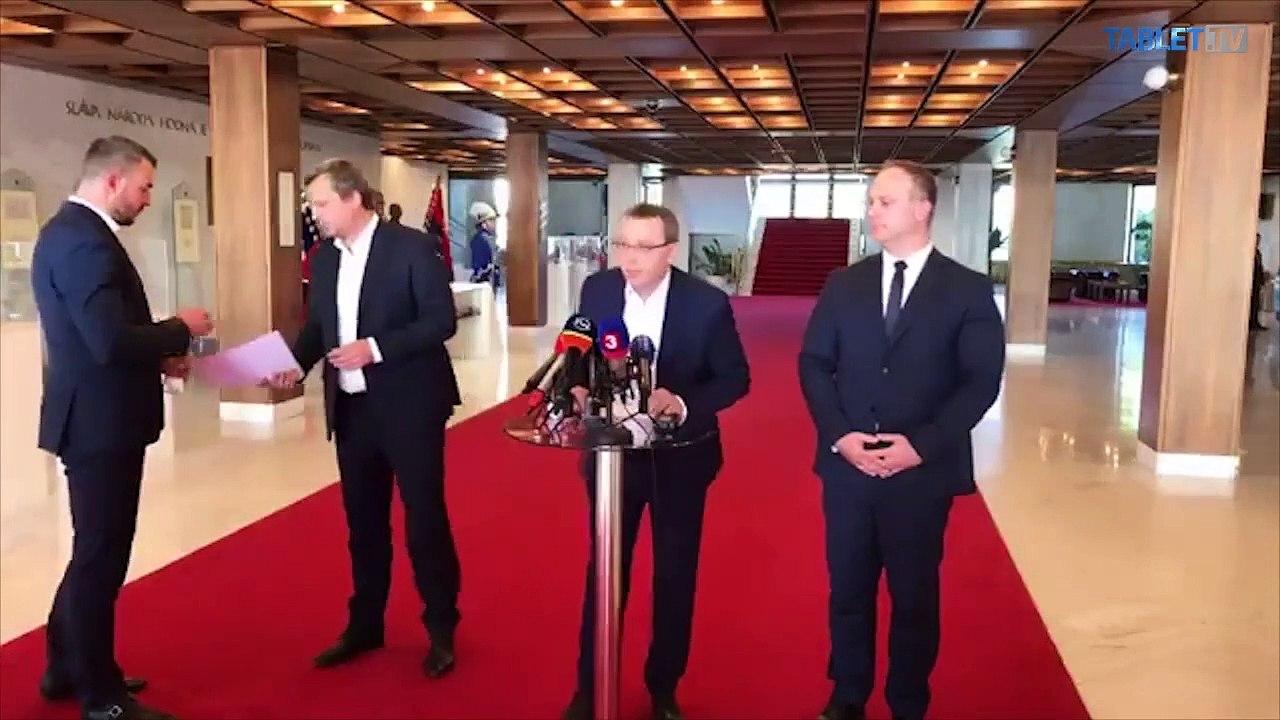 ZÁZNAM: TK predsedu Národnej rady SR Andreja Danka