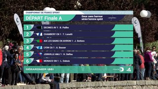 Championnats de France Sprint Senior Gerardmer 2019 -Deux sans barreur senior homme - Finale A