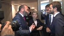 Casado junto a Ursula von der Leyen, presidenta electa de la CE