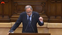 Torra comparece en el Parlament por la sentencia del 'procés'