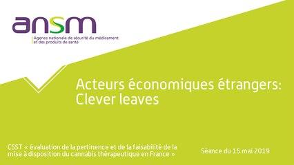 Acteurs économiques étrangers: Clever leaves