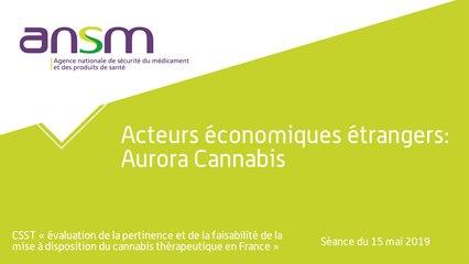 Acteurs économiques étrangers: Aurora Cannabis